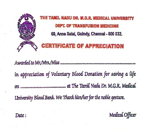Blood donor certificate pasoevolist blood donor certificate yadclub Choice Image